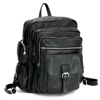 TIDING Мужчин Ноутбук Рюкзак для путешествий школьные мальчики девочки Из Натуральной Кожи рюкзак книги мешок 3063
