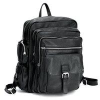 TIDING мужской ноутбук рюкзак для путешествий школьные для мальчиков для девочек из натуральной кожи Рюкзак Книга сумка 3063