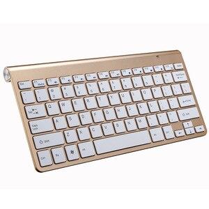 Image 3 - Portatile Senza Fili della Tastiera per Mac Computer Portatile Del Taccuino TV box 2.4G Mini Tastiera Mouse Set Forniture Per Ufficio per IOS Android win 7 10