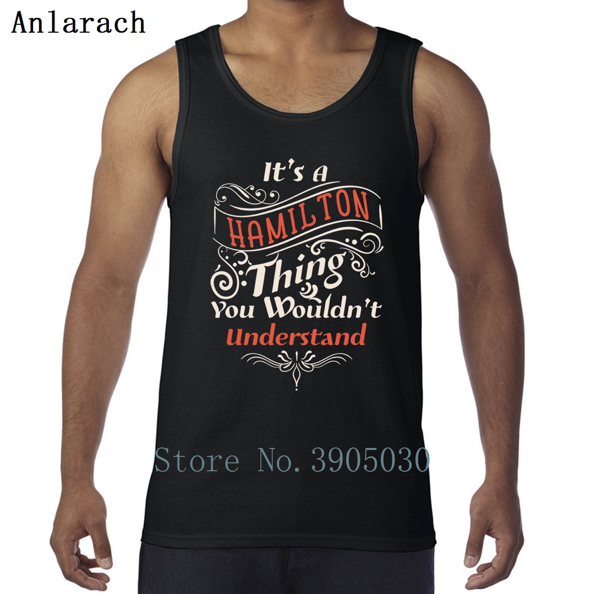 It's A Hamiltons Thing Alexander Quotes Vest Printed Workouts Big Sizes Casual Tank Tops For Men Graphic Pattern Stylish Summer image