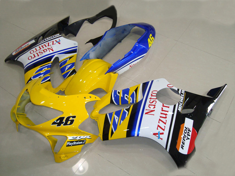 Injection Mold Fairing Kit For HONDA CBR600F4 99 00 CBR600 F4 CBR 600 1999 2000 Yellow White Blue Fairings Set 7gifts HA12 In Covers Ornamental