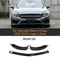 Carbon Fiber Front Lip Splitters Apron Bumper Protector for Mercedes-Benz S-Class S500 S550 Coupe 2-Door 2014 - 2017