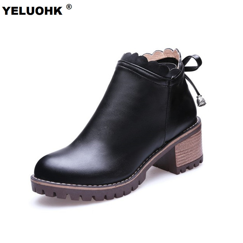 large size 43 autumn shoes ankle boots butterfly