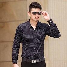 2016 ISMEN Mens Dress Shirt Long Sleeve Male Business Casual Fashion Full Sleeve