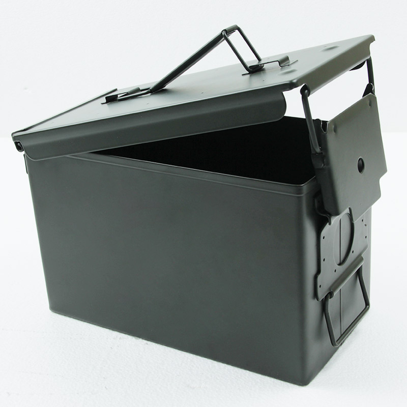 50 Cal Ammo Can All-Metal Box Military & Army Styling Stackable Gun Ammo Case Storage Holder Box Heavy Duty Tactical Bullet Box