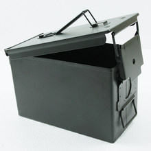 50 Cal Ammo Can All-Metal Box Military & Army Styling Stackable Gun Ammo Case Storage Holder Box Heavy duty Tactical Bullet box(China)