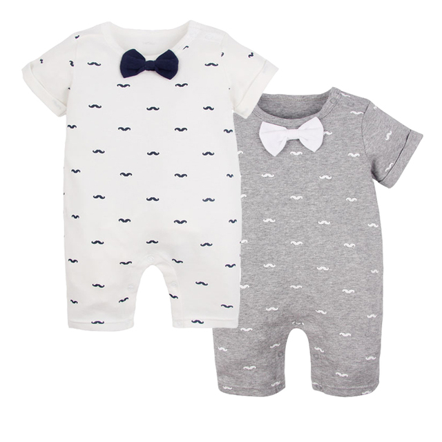2017 New Brand Smiling Babe Baby Rompers Fashion Baby Pajamas Short