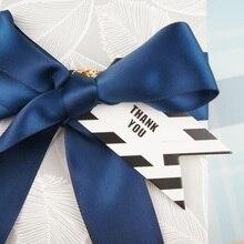 multi-use 50pcs black white fashion design thank you Scrapbooking decoration tags as wedding gift label DIY use