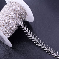DIY 5Yards Slim 1 7cm Shiny RhinestoneS Trimming Clothing Appliques Sewing Craft Handmade Accessories For Bridal
