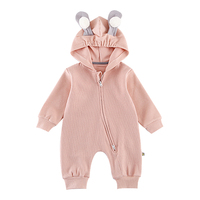 Cute Ears Hooded Baby Rompers For Babies Boys Girls Clothes Newborn Clothing Brands Jumpsuit Infant Costume Baby Outfit
