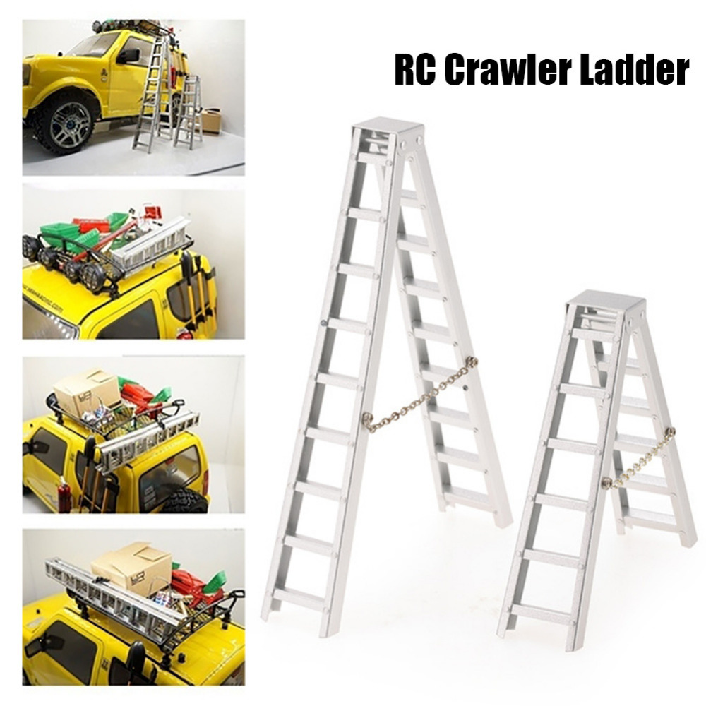 New 1/10 Simulated Aluminum RC Car Crawler Ladder Accessory Axial SCX10 90046 RC4WD D90 TRX4 drop shipping