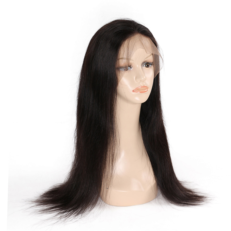 BHF Full Lace Wigs Brazilian Straight Hair Remy Human Hair Wigs With Baby Hair 10-24 180% Pre Plucked Long Wigs For Women