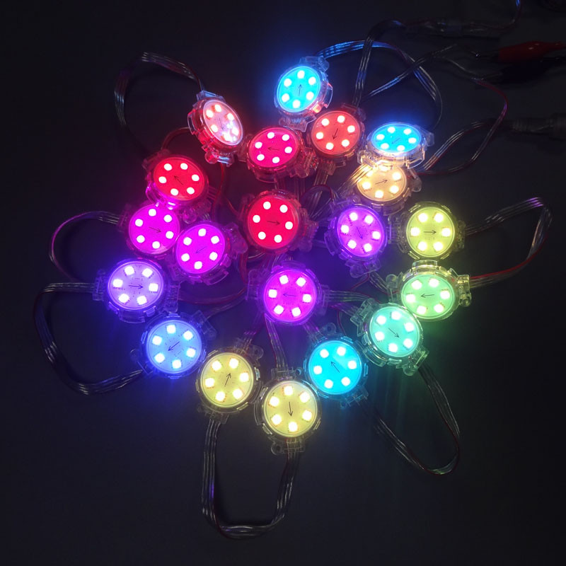 Led Modules 2019 New Style Dc24v 5050 Smd Rgb 6 Leds Diameter 40mm Sm16703 Led Module,full Color Digital Rgb Led Pixel Point Light Transparent Cover Ip68 Promote The Production Of Body Fluid And Saliva