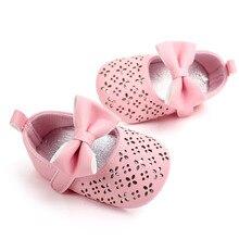 Nova Chegada 2019 Baby Girl Sapatos Recém-nascidos Primeira Caminhantes Sólido Oco Out Bow Princesa Sapatos Enfant Sapatos Da Criança Sola Macia menina