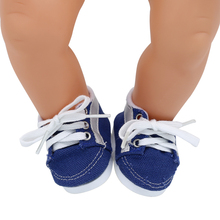 Lace-up Shoes Leather Shoes Sneaker Fit 43cm Baby Born Doll and 18 Inch American Girl Dolls BJD Doll Shoes  X-200