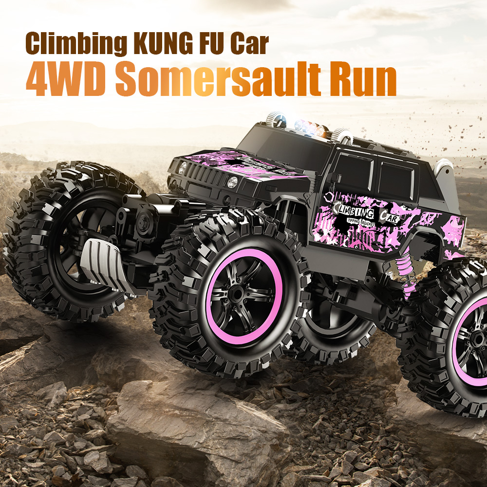 RC Car 4WD 2.4G Climbing Car 4x4 Double Motors Rock Crawlers LED Bigfoot Remote Control Car All-Terrain Off-Road Vehicle RC Toy suv jeep rc car toys dirt bike off road vehicle remote control car toy for children xmas gift rock climbing car boy classic toy