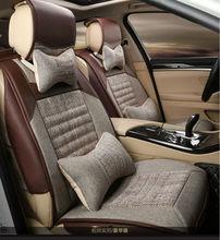 automotive linen car seat cushion set mats grey for FIAT Palio Palio Weekend Siena Perla CITROEN Elysee Picasso quatre triomphe сумка palio palio pa155bwepom7