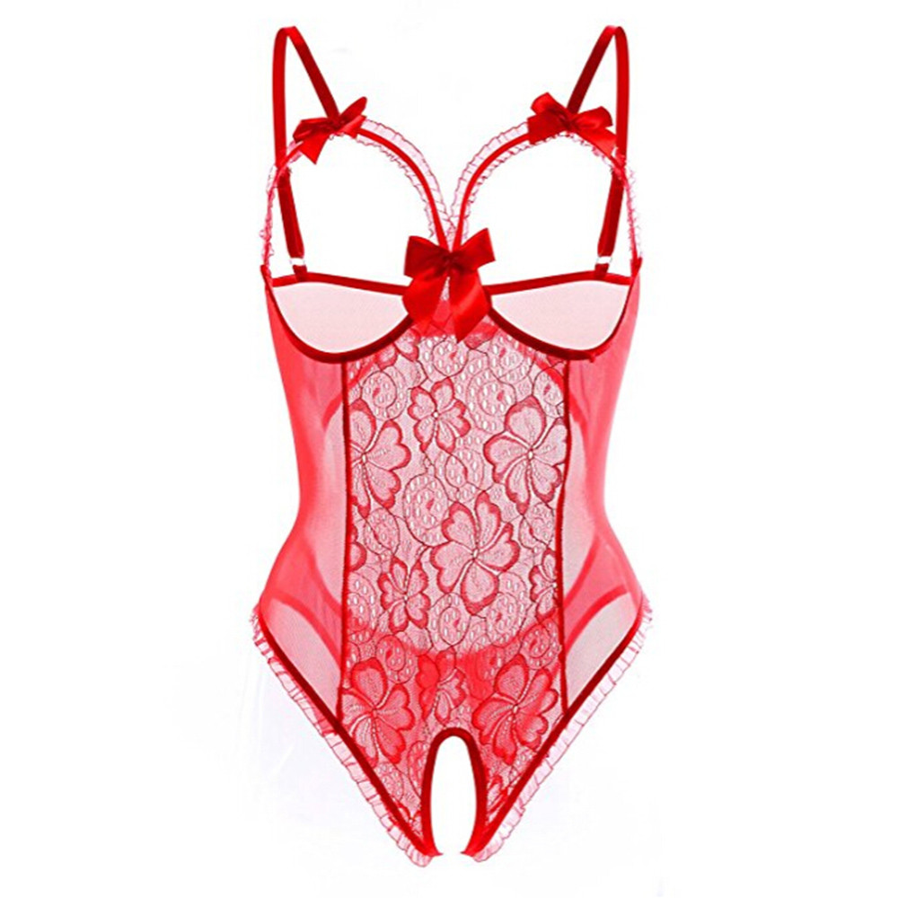 HTB1XydJS4TpK1RjSZFKq6y2wXXaV - Plus Size Open Bra Open Crotch Women Lace Sexy Lingerie Hot Transparent Babydoll Dress Erotic Costumes