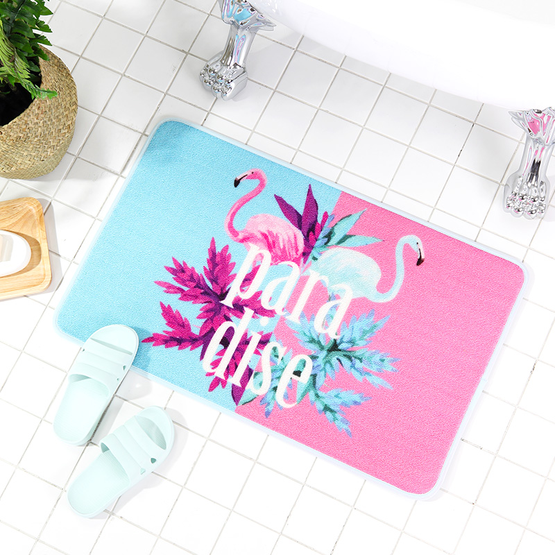 Flamants roses impression tapis rond et carré tapis lavable et anti-dérapant pour salon/salle de bains/cuisine/chambre