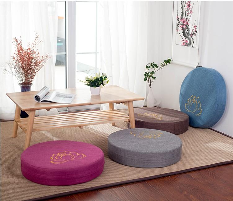 HTB1XydMe8GE3KVjSZFhq6AkaFXaG Japanese-style futon worship Buddha sitting cushion fabric washable round linen balcony window tatami mat meditation lotus