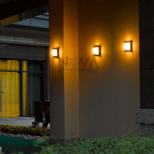 5w sharp led wall lamp outdoor useip54 exterior cube wall lights with pc diffusor