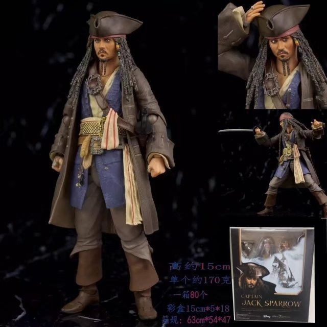 NEW hot 16cm Pirates of the Caribbean Dead Men Tell No Tales Jack Spar Action figure toys doll collection Christmas gift