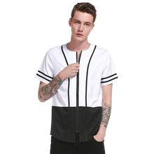 2017 New Summer Fashion Brand T-Shirt MenS Europe And The United States Simple Black White Striped Lapel Short Sleeve Tees