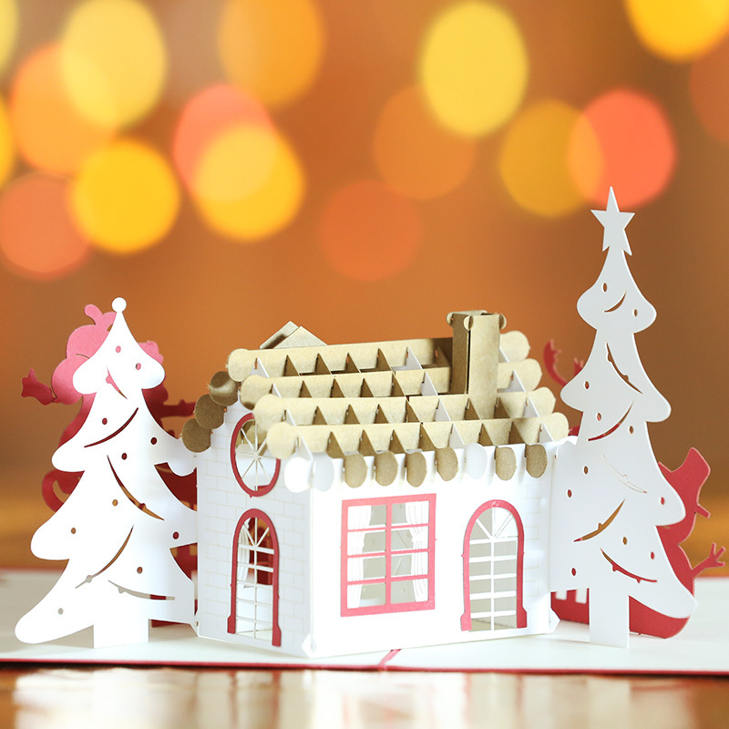 Personalized 3D Popup Christmas Gift Greeting Cards Handmade Paper ...