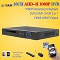 LOFAM AHD DVR 16-канальный 1080 P главная видеонаблюдения 16 канала AHDH безопасности CCTV DVR цифровой видеорегистратор 1080 P 16 канала AHD DVR NVR