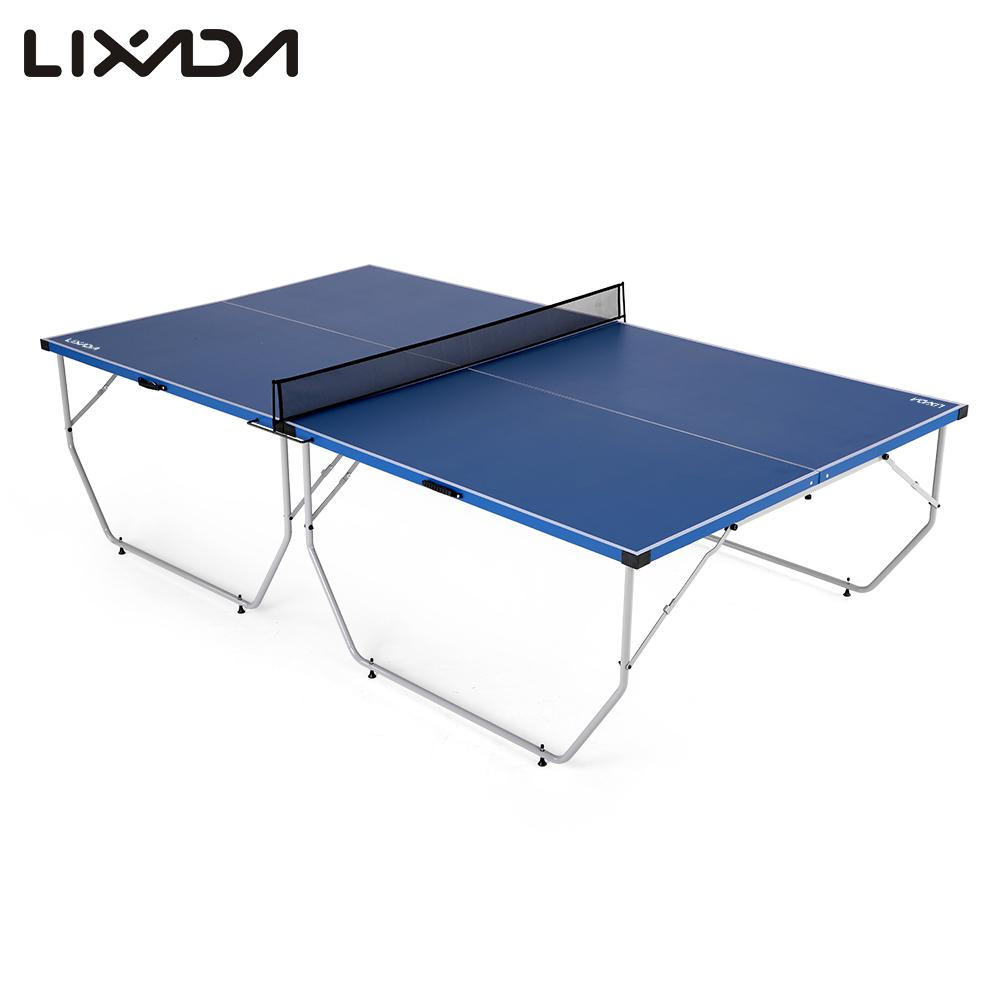 lixada folding table tennis table ping pong table indoor. Black Bedroom Furniture Sets. Home Design Ideas
