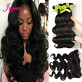 7A Grade Unprocessed Brazilian Virgin Hair Bundles With Lace Frontal Body Wave Lace Frontal Closure With Bundles Fast Shipping
