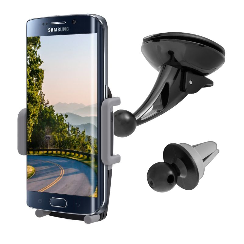 Universal Car Windshield dashboard + Air Vent Set Mobile phone Holder Stand For Samsung Galaxy S7 S6 Edge S5 S4 Note 4 5 7 mobile phone car vent holder