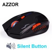 Azzor перезаряжаемая беспроводная мышка кнопка выключения компьютерных игр 1600 Точек на дюйм встроенный Батарея с зарядный кабель для портативных ПК