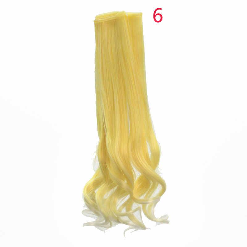 1 adet 25*100 cm Yüksek Sıcaklık Fiber Moda Gevşek Dalga Kıvırcık Bebek saç ekleme DIY için 1/3 1/4 1/6 BJD SD bebek Peruk