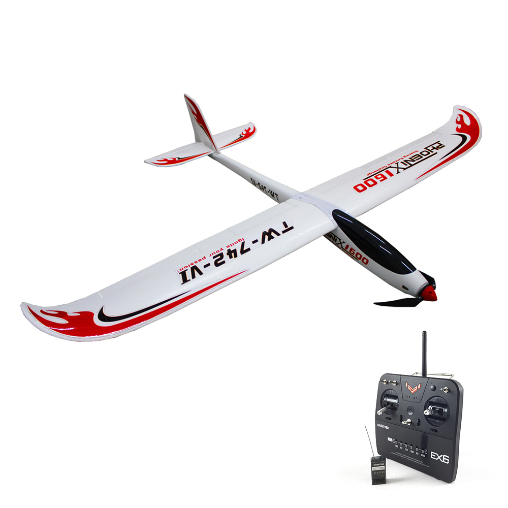 Volantex Phoenix 2000 RC RTF Glider Plane Model W/ Motor Servo 30A ESC Battery volantex super decathlon rc rtf plane model w brushless motor servo esc battery