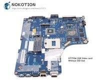 NOKOTION Para Lenovo ideapad Y510P Laptop Motherboard VIQY1 NM-A032 GT755M 2GB 1920*1080 sem SDD slot para Placa Principal