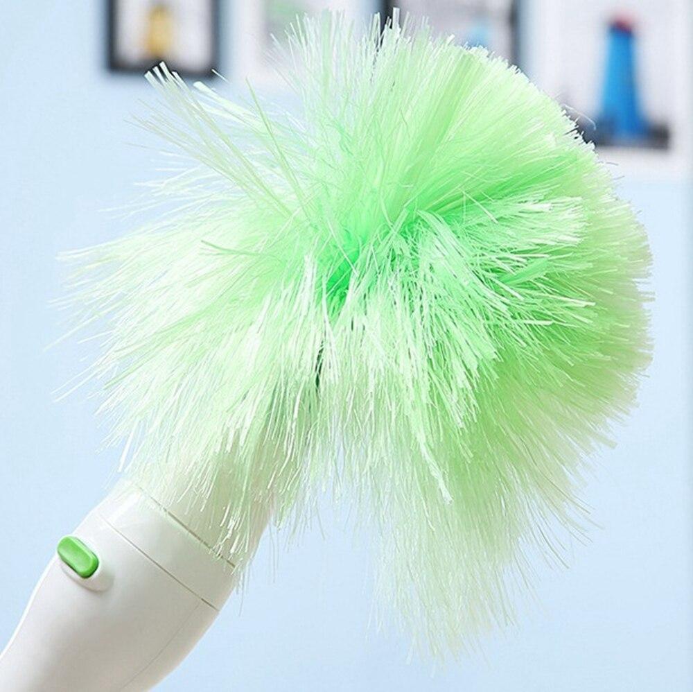 Pincel de limpieza eléctrico de Múltiples Funciones Verde limpieza Del Hogar Plumero Polvo Cepillo Limpiador de Ventanas para cortinas