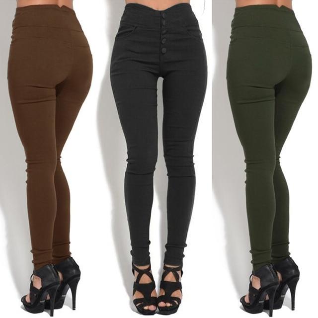 Joggers Sweatpants Women High Waist Pants Skinny Elastic Stretchy Slim 3XL 4XL 5XL Plus Size Trousers female Casual Pencil Pants