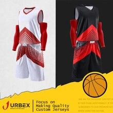 befddb7b9523b URBEX personnalisé maillots de basket-ball uniforme personnaliser chemise  blanc plaine ensemble bricolage votre propre