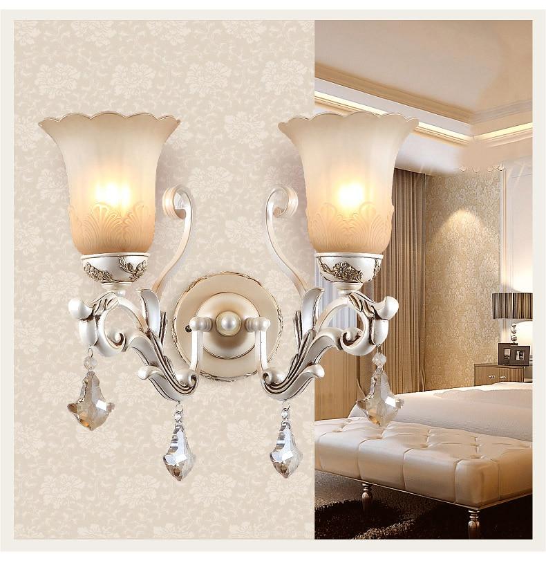 European rural bedroom lamps and lanterns, wall lamp, wrought iron resin Jane the corridor corridor lighting
