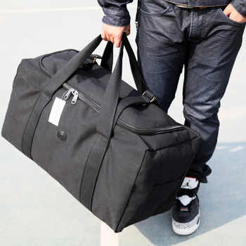New Arrivals Canvas Leather Men Travel Bags Carry on Luggage Bags Men Duffel Bag Travel Tote Large Weekend Big Bag Overnight - DISCOUNT ITEM  39% OFF All Category