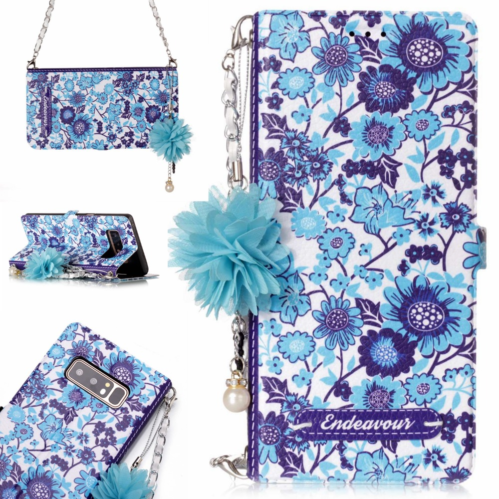 New Luxury Shoulder Bags For Samsung Note 8 Lattice Pattern Elegant Women Wallet Leather Metal Chain Jewelry <font><b>Phone</b></font> <font><b>Case</b></font>