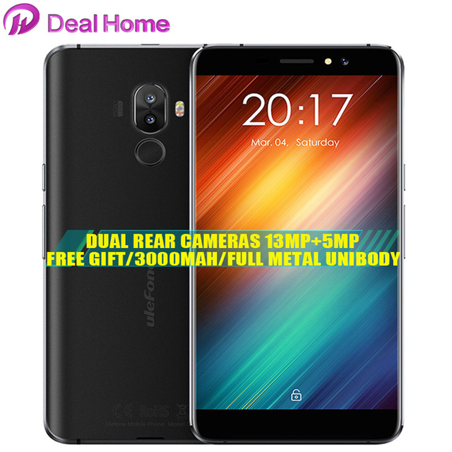 Case)gift!Original Ulefone S8 Rear Dual Cameras 5.3Inch HD 720P MT6580 Quad 1GB+8GB 5MP+13MP Fingerprint ID 3000mAh 3G Cellphone