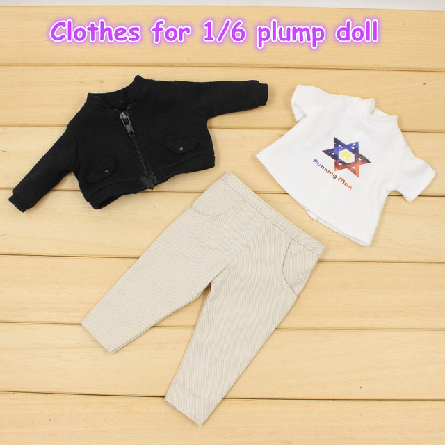 Clothes For 1/6 Blyth Plump Body Cute Girl Suit Pants Coat Cool Clothes Free Shipping