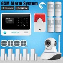 Etiger G908 Plus 110-240 v de trabajo con la cámara IP WIFI + GSM sistema de alarma casera viable con RFID teclado inalámbrico