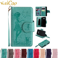 Frame Mirror Phone Cases For SAMSUNG Galaxy J5 6 2016 Duos SM J510F DS Flip Wallet