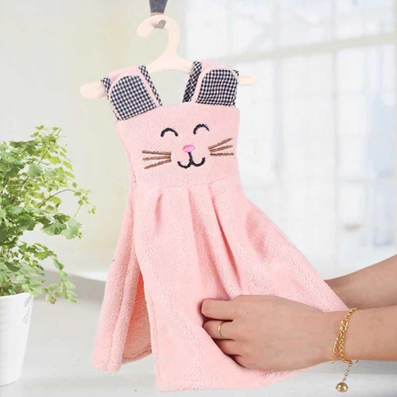 Новинка, хит продаж, Высококачественная мягкая микрофибра, объемный котенок, милое платьице, носовой платок, кухонные полотенца с петелькой