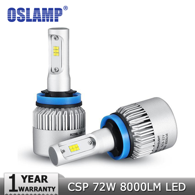 Oslamp H4/H7/H11/H13/9005(HB3)/9006(HB4) 72W 8000lm 6500K LED Car Headlight Bulb Hi-Lo Beam Single Beam Auto Headlamp Fog Light
