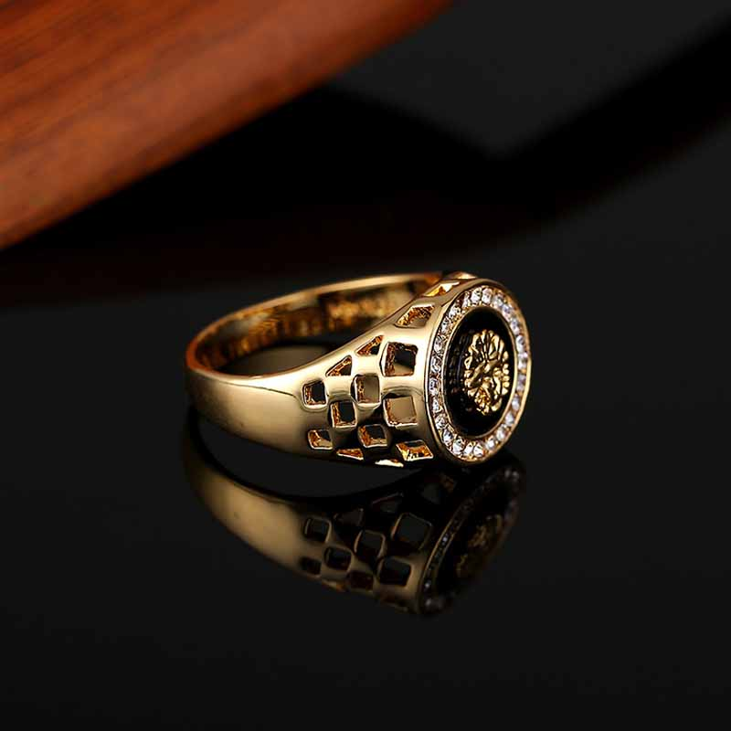New Fashion Gold and Silver Colors Classic Men's Punk Style Hip Hop Ring males man Finger rings for men women Size7-12