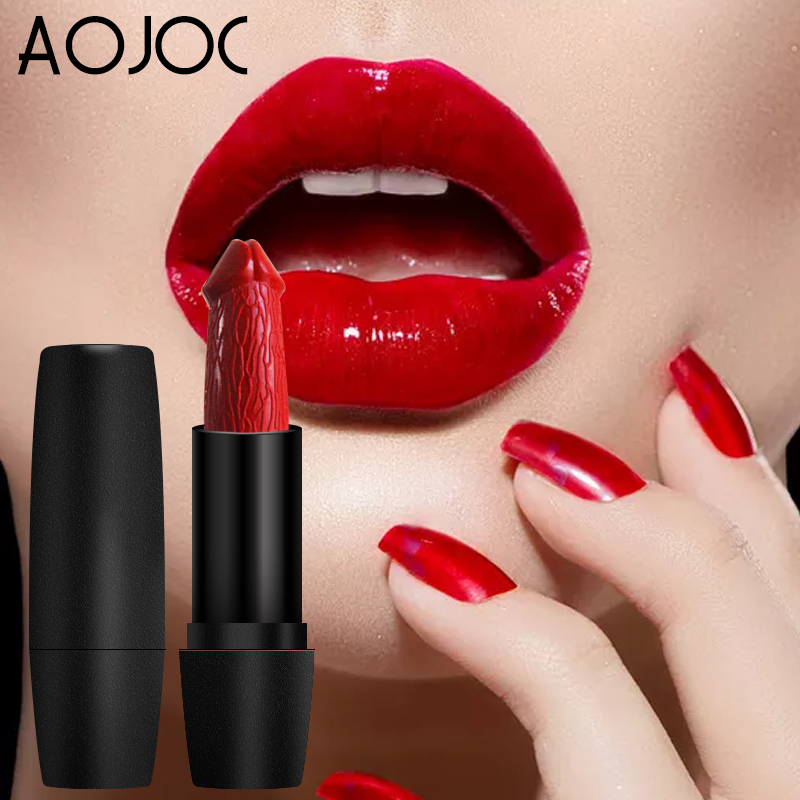 Fast Deliver 8 Colors Penis Shape Lips Makeup Lipstick Creative Mushroom Baby Lips Rouge Pop Long Lasting Moisture Cosmetic Lipstick New Beauty & Health